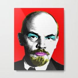 Ooh Mr Lenin - Red Metal Print