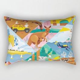 Travel To Australia Rectangular Pillow