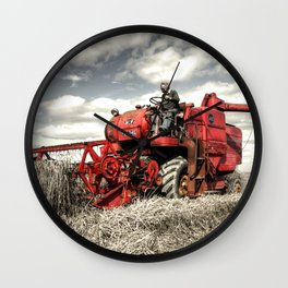 The Red Combine Wall Clock