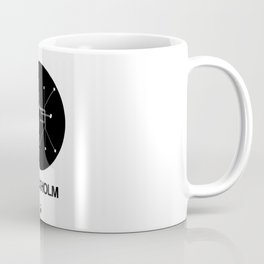 Stockholm Black Subway Map Coffee Mug