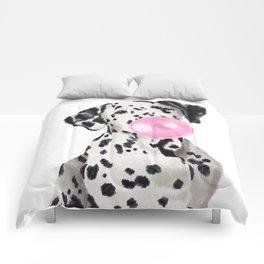 Dalmatian Blowing Bubble Gum Comforters