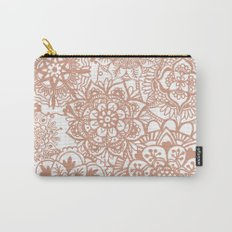Rose Gold Mandala Pattern Carry-All Pouch