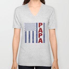 American Papa Unisex V-Neck