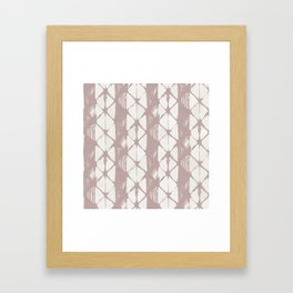 Simply Braided Chevron Clay Pink on Lunar Gray Framed Art Print