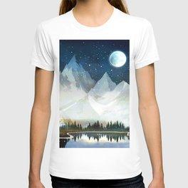 Mountain Lake Under the Starlight T-shirt