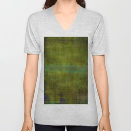 Green burrows ~ Abstract Unisex V-Neck