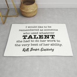 Ruth Bader Ginsburg Notorious RBG Talent Rug