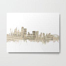 Sydney Australia Skyline Sheet Music Cityscape Metal Print