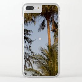 palm night in Thailand Clear iPhone Case