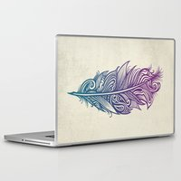 supreme Laptop & iPad Skins featuring Supreme Plumage by Rachel Caldwell