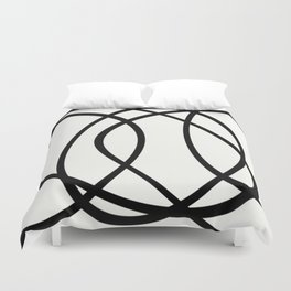 Community - Black and white abstract Duvet Cover