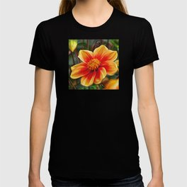 Orange Flower, DeepDream style T-shirt