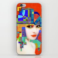 nouveau iPhone & iPod Skins featuring Nouveau Girl 2 by Steve W Schwartz Art
