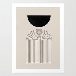 Arch, geometric modern art Art Print