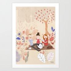 Picknick in the park (Rotterdam) Art Print