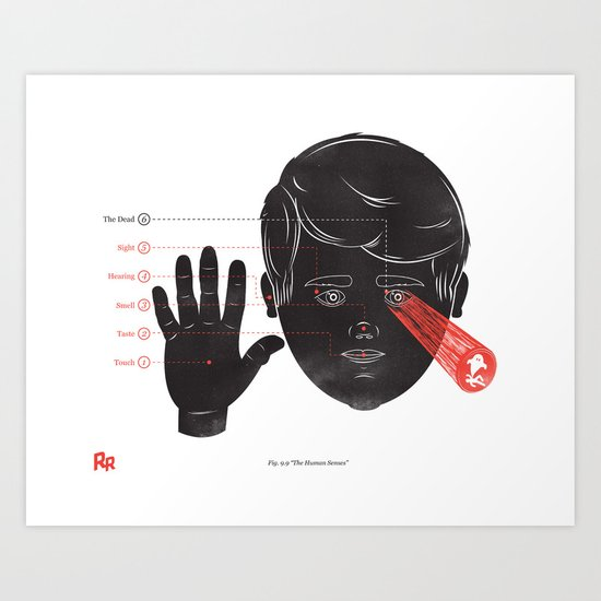 The Human Senses Art Print