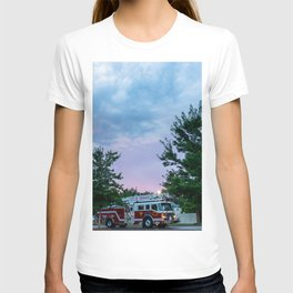 City of Thomson Georgia Firetruck Sunset T-shirt