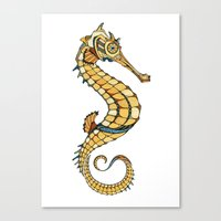 seahorse Canvas Prints featuring Seahorse by Andreas Preis