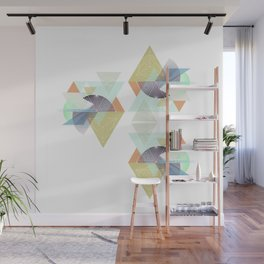 Midcentury geometric abstract nr. 001 Wall Mural