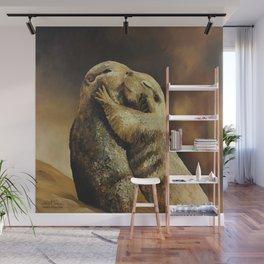 El beso de los perritos de la pradera Wall Mural