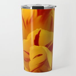 A Chaos of Reds and Yellows: in the Heart of a Triandrus Daffodil Travel Mug