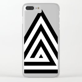 Triangle Spiral Clear iPhone Case