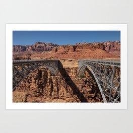 Navajo_Bridge - Marble_Canyon, Arizona Art Print