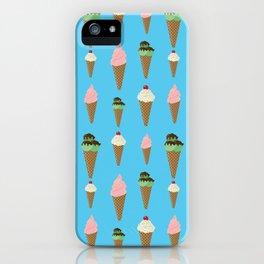Ice Cream Cones Pattern iPhone Case