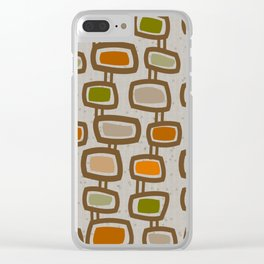 Dangling Rectangles Mid-Century Clear iPhone Case