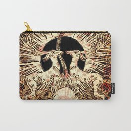 Art Nouveau White Stags Carry-All Pouch