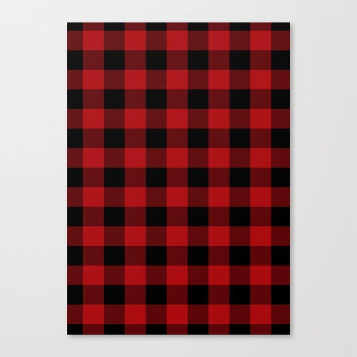 Red & Black Buffalo Plaid Leinwanddruck