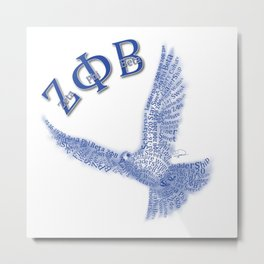 Zeta Phi Beta Dove-White Metal Print