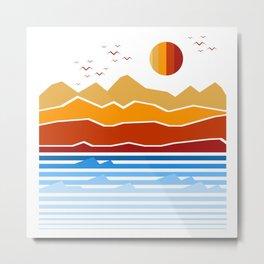 the land Metal Print