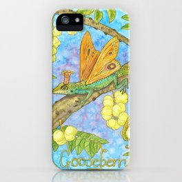 Fruits and Fantasy: Gooseberry/Lizard iPhone Case