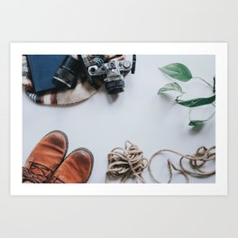 Adventuring Hipster Starter Pack Art Print