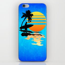 Surfing Sunrise iPhone Skin