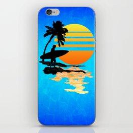 Surfing Sunrise iPhone Skin