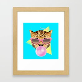 Bubble Gum Leo Framed Art Print