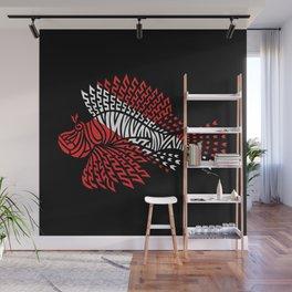 Tribal Scuba Flag Lionfish Wall Mural