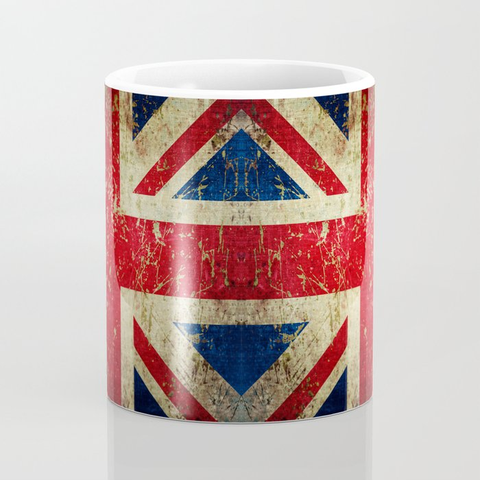 Grunge Scratched Metal Union Jack / British Flag Coffee Mug