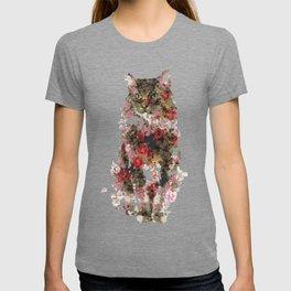 Portrait of a vintage cat T-shirt