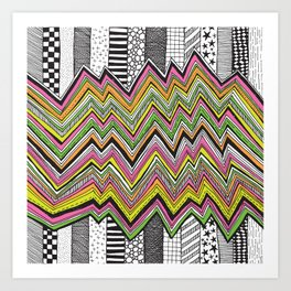 Stripes and Zig Zags Art Print