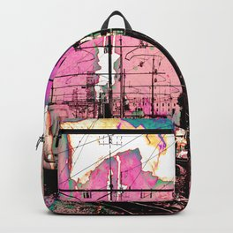 All About the Journey, Abstract Grunge Train Backpack