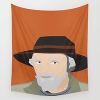 scandinavian Wall Tapestries featuring Scandinavian fisherman by Design4u Studio