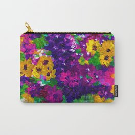 Colorful painted bouquet of flowers Carry-All Pouch