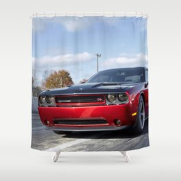 Scat Pack Challenger RT Two Tone Prototype Shower Curtain