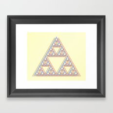 3 Triangle Framed Art Print