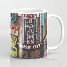 Lower Broadway, Nashville print  Coffee Mug