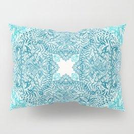 Teal Tangle Square Pillow Sham