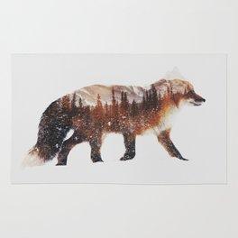 Arctic Red Fox Rug